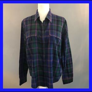 Ralph Lauren button down plaid long sleeve shirtXL